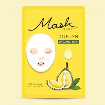 Maskenblatt durian