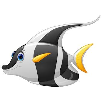 Maskierte banner fisch cartoon