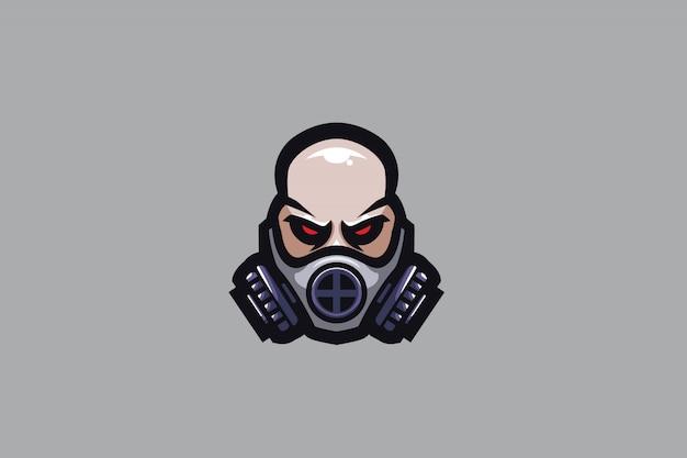 Maskiertes sport-logo des mann-e