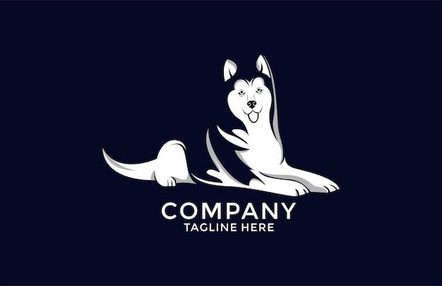 Maskottchen cartoon hund alaskan malamute
