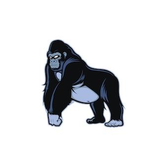 Maskottchen des schwarzen gorillas