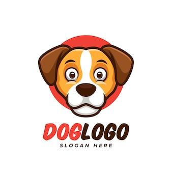Maskottchen-logo-design für kreatives hundekonzept