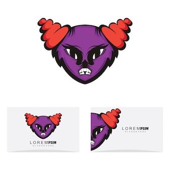Maskottchen-logo-design mit modernem konzeptstil
