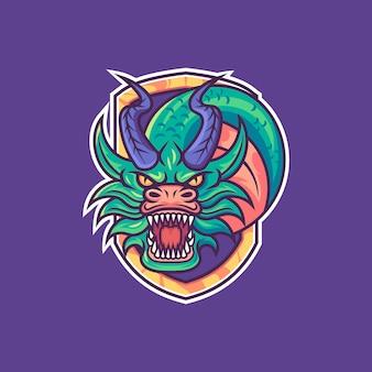 Maskottchen logo drache