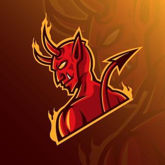 Maskottchen logo konzept teufel