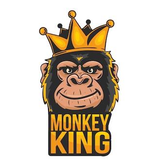 Maskottchen-logo mit affen