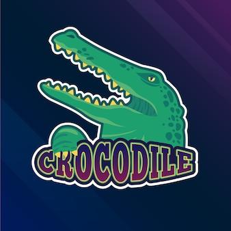 Maskottchen-logo mit krokodil
