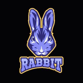Maskottchen-logo mit mit kaninchen