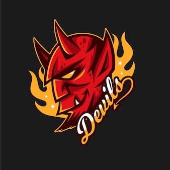 Maskottchen-logo mit teufel