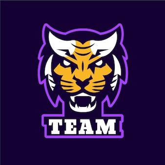 Maskottchen-logo mit tiger