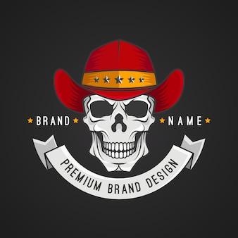 Maskottchen-logo-schablonenstil
