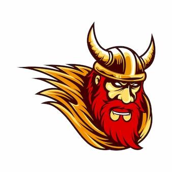 Maskottchen logo wikinger