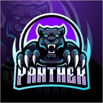 Maskottchen-logoentwurf des panthers esport