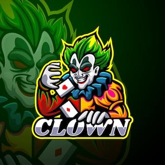 Maskottchen mit clown-esport-logo