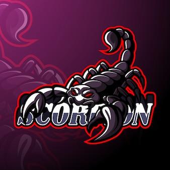 Maskottchen mit skorpion-esport-logo