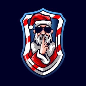 Maskottchen santa claus style mit brille