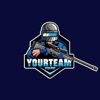 Maskottchen-spiel-logo