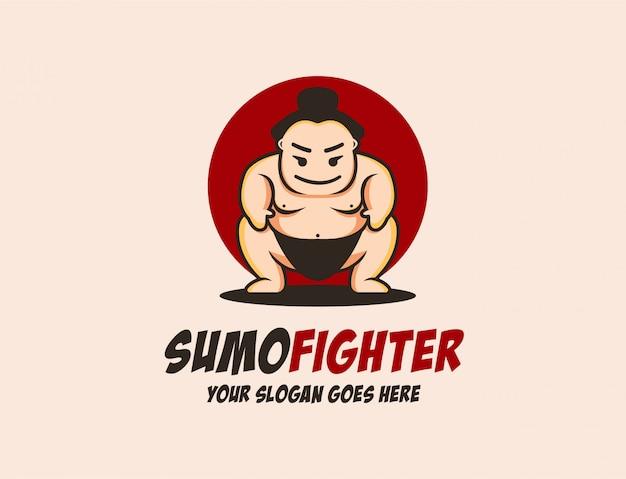 Maskottchen-sumo-logo-vorlage