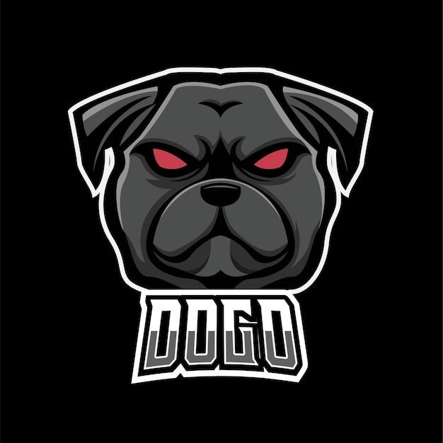Maskottchenlogo für hundesport und esport-gaming