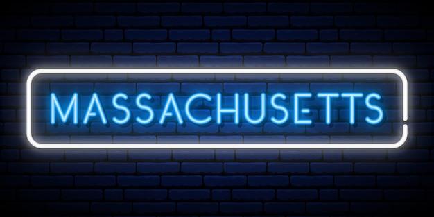 Massachusetts leuchtreklame