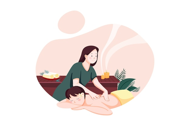Massage service illustration konzept