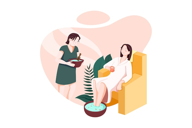 Massage service vektor-illustration konzept