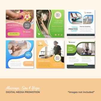 Massage spa und yoga social media promotion