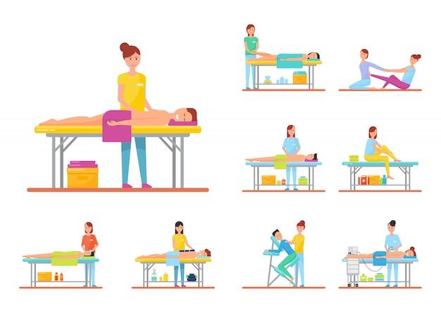 Massage und behandlungen back facial und hot stone