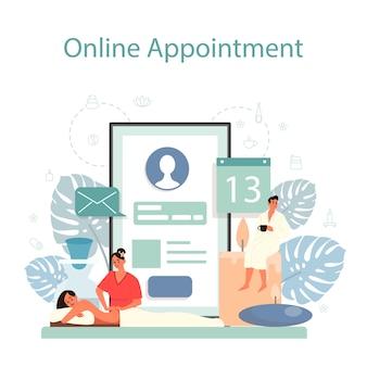Massage und masseur online-service oder plattform. spa-verfahren