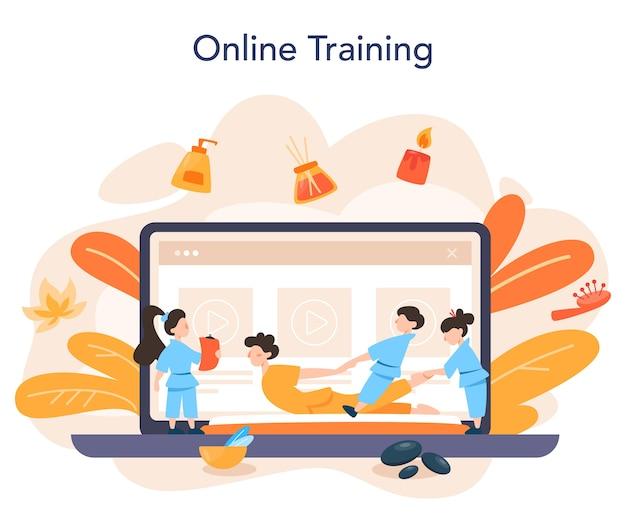 Massage und masseur online-service oder plattform