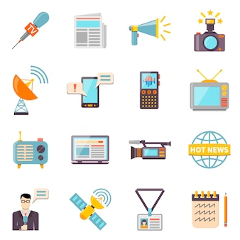 Massenmedien icons set