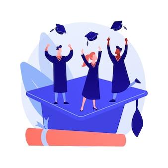Master-abschluss. hochschulbildung, wissenserwerb, universitätsabschluss
