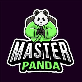 Master panda esport logo vorlage