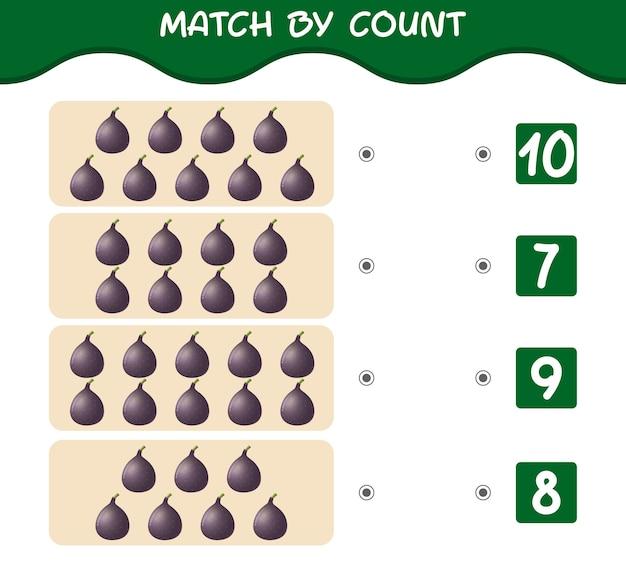 Match by count of cartoon feigen match and count spiel lernspiel für kinder und kleinkinder vor der schule