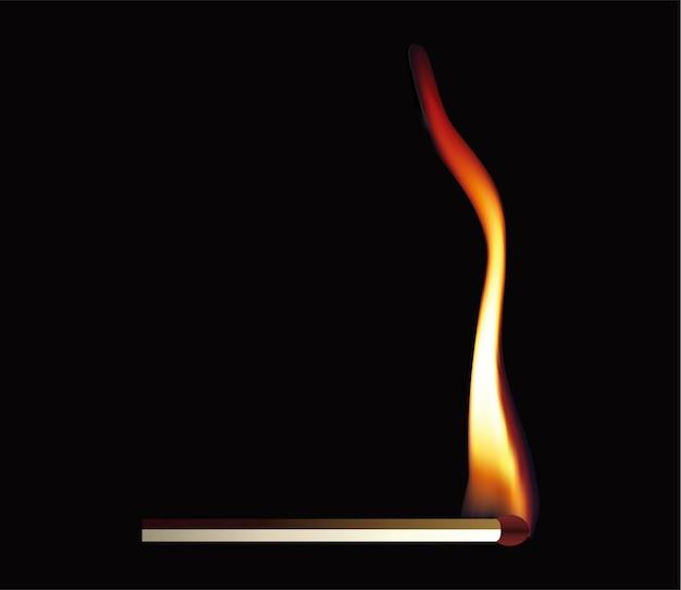 Match flammenvektorentwurfs-illustrationsschablone