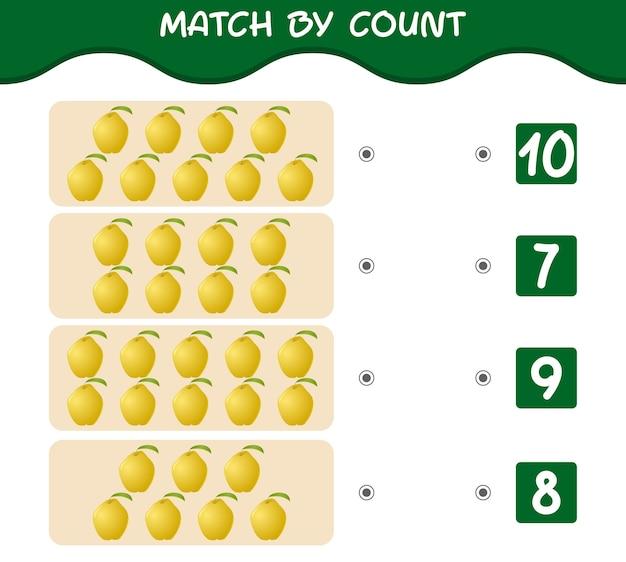 Match nach count of cartoon quitten match and count spiel lernspiel für kinder und kleinkinder vor der schule