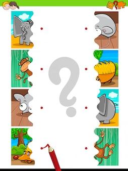 Match puzzles pädagogische aktivität