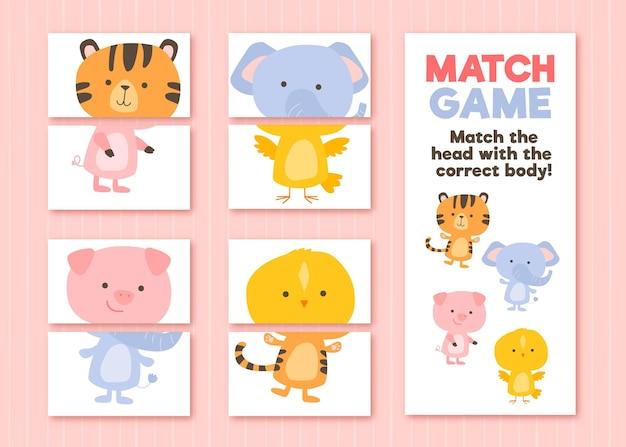 Match-spiel für kinderillustration