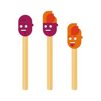 Match-stick-zeichentrickfiguren