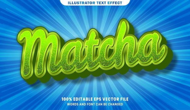Matcha 3d bearbeitbarer textstileffekt