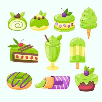 Matcha dessertkollektion