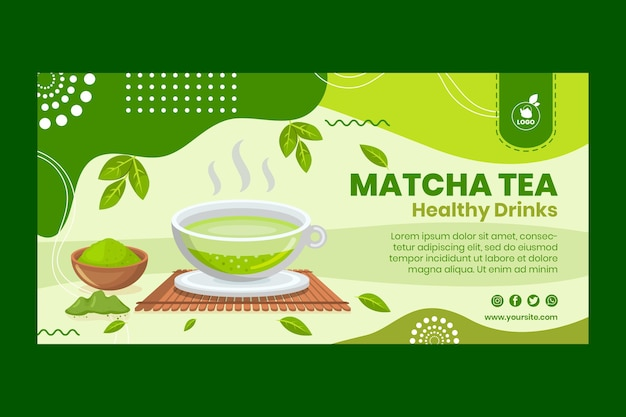 Matcha tee banner vorlage