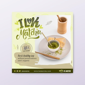 Matcha tee flyer vorlage