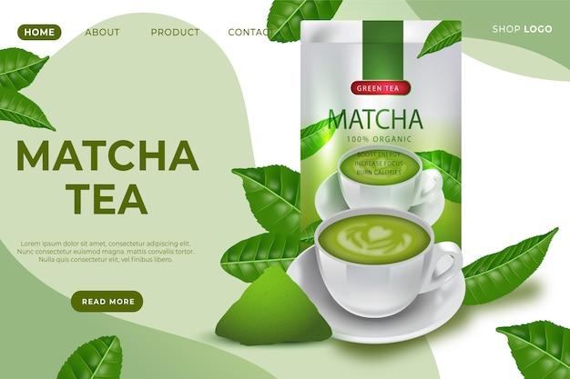 Matcha-tee-landingpage-vorlage Kostenlosen Vektoren