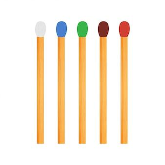 Matchvektor eingestellt mit unterschiedlicher schwefelfarbe.
