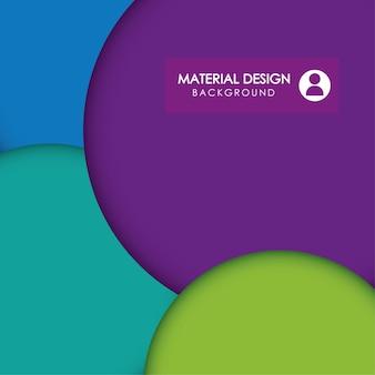 Materielles konzept mit abstraktem ikonendesign, grafik der vektorillustration 10 env.