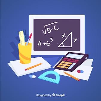 Mathe materieller hintergrund der karikatur