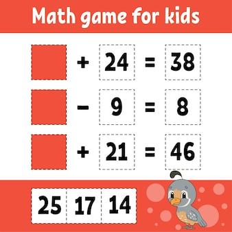 Mathe-spiel für kinder.