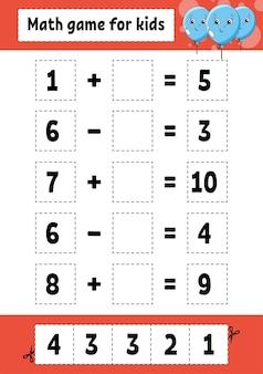 Mathe-spiel für kinder