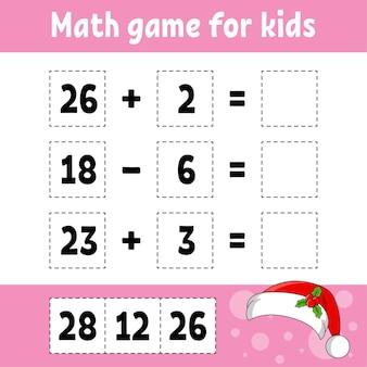 Mathe-spiel für kinderillustration